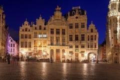 Häuser im großartigen Platz, Brüssel, Belgien stockbilder
