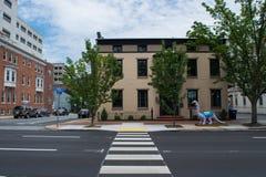 Häuser in im Stadtzentrum gelegenem Harrisburg, Pennsylvania stockfoto