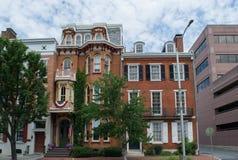 Häuser in im Stadtzentrum gelegenem Harrisburg, Pennsylvania stockfotos