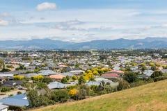 Häuser im Vorort von Blenheim-Stadt, Neuseeland Stockfotos