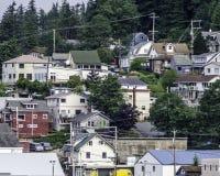 Häuser in Ketchikan, Alaska 2 Lizenzfreie Stockfotografie