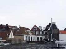 Häuser in Leiden die Niederlande Stockbild