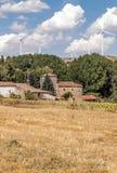 Häuser mit Schaufeln Lizenzfreies Stockfoto