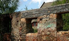 Häuser in Mittel-Deutschland Lizenzfreies Stockbild