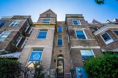 Häuser nahe Adams Morgan, in Washington, DC Lizenzfreie Stockfotos