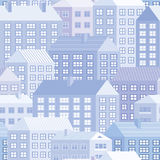 Häuser - nahtloses Muster Vektor Abbildung