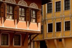 Häuser in Plovdiv lizenzfreies stockfoto