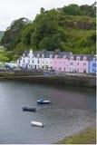 Häuser in Portree Stockfoto