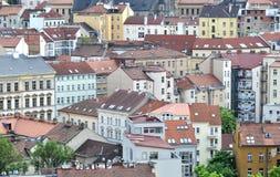 Häuser in Prag Stockfotos