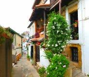 Häuser in Puerto Viejo, Bilbao, Spanien stockfotos