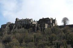 Häuser in Schottlands Friedhof Stockbild