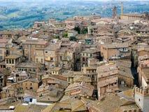 Häuser in Siena, Italien Stockfotografie