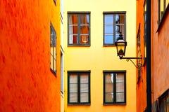 Häuser in Stockholm lizenzfreie stockfotografie