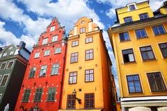 Häuser in Stockholm stockfoto