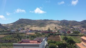 Häuser und Hügel Lizenzfreies Stockfoto