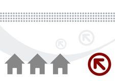 Häuser und Pfeilabbildung vektor abbildung