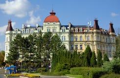 Häuser und Straßen von Karlovy unterscheiden sich Lizenzfreies Stockbild