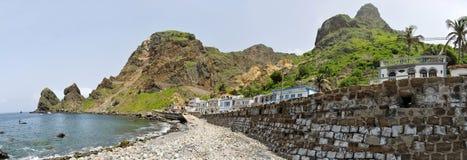 Häuser und Strand Lizenzfreie Stockfotos