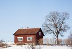 Häuser und Umwelt in Schweden Lizenzfreie Stockbilder