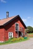 Häuser und Umwelt in Schweden Lizenzfreies Stockfoto