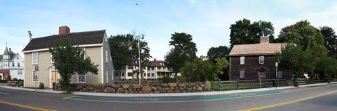 Häuser von Adams (dunkler) und von Quincy (heller) Stockfotografie