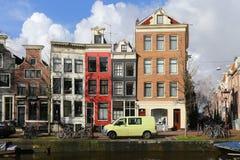 Häuser von Amsterdam Stockbild