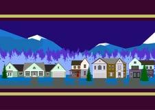 Häuser von Bergen Stockbild