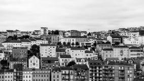 Häuser von Coimbra Stockfotos