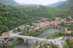 Häuser von einer Bergstadt Lizenzfreie Stockfotos