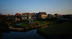 Häuser von Marken-Insel, die Niederlande Stockfotografie