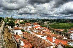 Häuser von Obidos Stockfoto