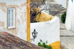 Häuser von Obidos Stockfotos