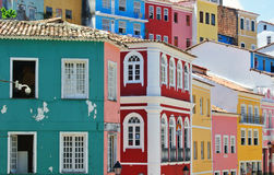 Häuser von Pelourinho stockbild