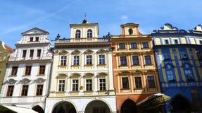 Häuser von Prag Stockbilder