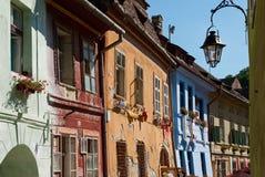 Häuser von Sighisoara Stockbilder