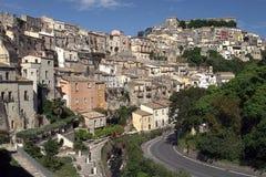 Häuser von Sizilien Stockbilder