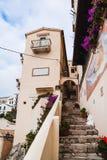 Häuser von Sperlonga Italien Stockbild