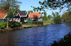 Häuser in Zaanse Stockbild