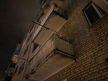 Häuserblöcke nachts Lizenzfreies Stockfoto