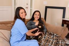 Häusliche Pflege Stockfotos