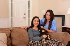 Häusliche Pflege Stockbild