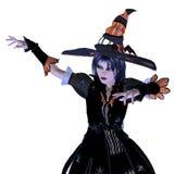 häxa för 3d halloween Royaltyfri Foto