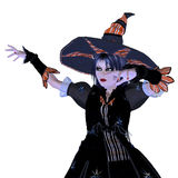 häxa för 3d halloween Royaltyfri Fotografi