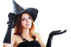 Häxa halloween Royaltyfria Bilder