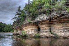 Häxabergsklyftan är en gömd dragning i Wisconsin Dells och kan fotografering för bildbyråer
