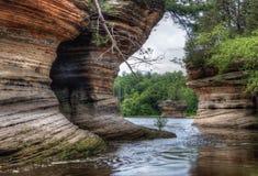 Häxabergsklyftan är en gömd dragning i Wisconsin Dells och kan Royaltyfri Bild