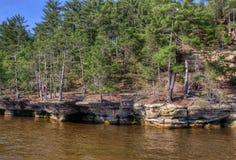 Häxabergsklyftan är en gömd dragning i Wisconsin Dells och kan Arkivfoton