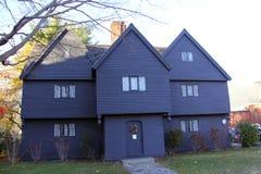 Häxahuset, Salem, Massetuchettes Royaltyfria Foton