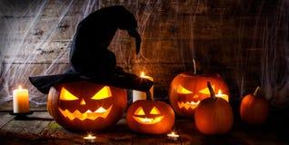 häxor för halloween hattpumpa Arkivfoto