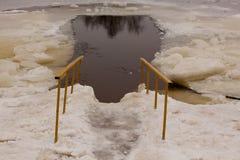 Is-hål fotografering för bildbyråer